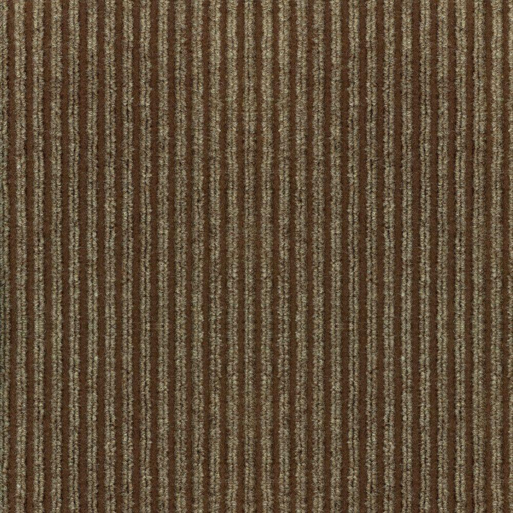 TrafficMASTER Corduroy Taupe/Walnut 18 in. x 18 in. Carpet Tiles (16 Tiles/Case)-DISCONTINUED