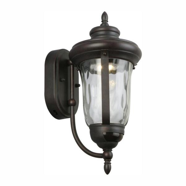 Bronze Motion Sensor Outdoor Integrated LED Wall Lantern Sconce