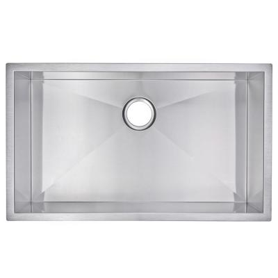 Undermount Stainless Steel 32 in. Single Bowl Kitchen Sink in Satin