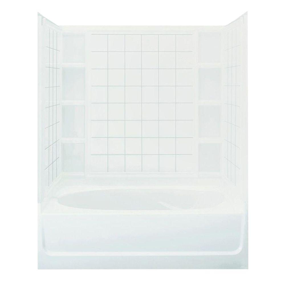 STERLING Ensemble 36 in. x 60 in. x 72 in. Bath and Shower Kit ...