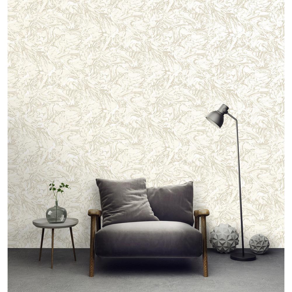 Cream Textured Ink Wallpaper