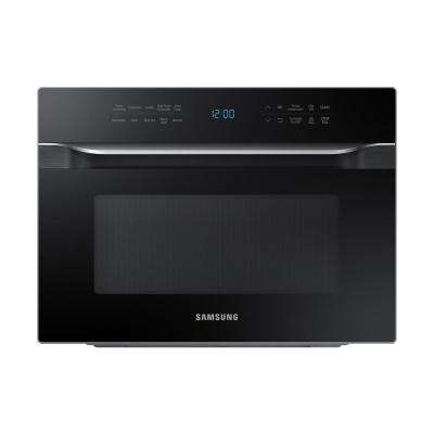 1.2 cu. ft. PowerGrill Duo Countertop Microwave with Power Convection and Built-In Application in Black