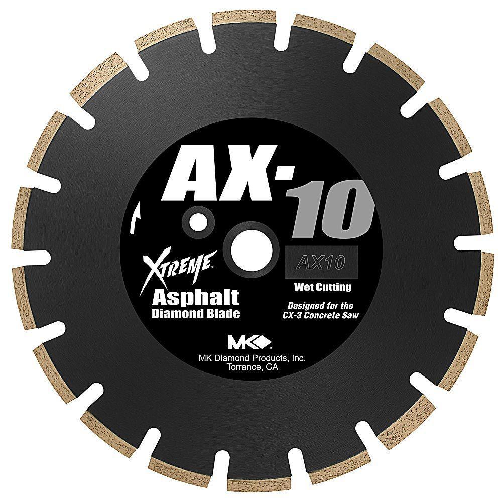 MK Diamond AX-10 12 in. Wet Cutting Segmented Diamond Saw Blade for Asphalt