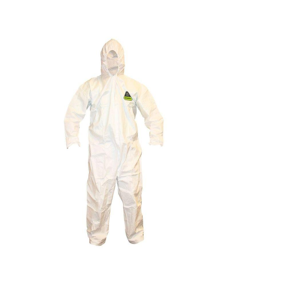 Defender II Microporous Men's Large White Value Pack Coverall with Hood