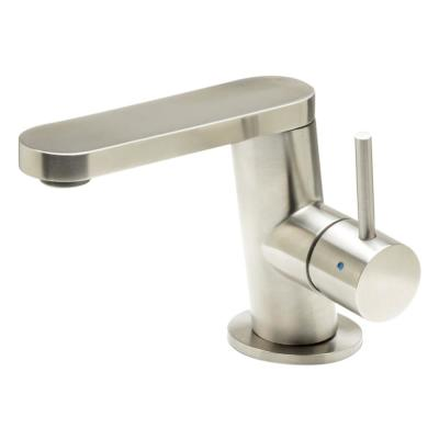 Single Hole Single-Handle Bathroom Faucet in Brushed Stainless Steel