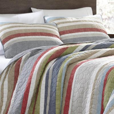 Salmon Ladder Striped Quilt Set