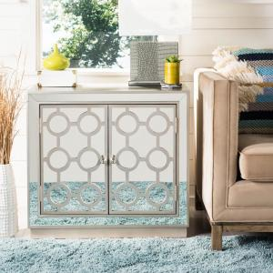 Kaia 2-Door Champagne/Nickel Chest