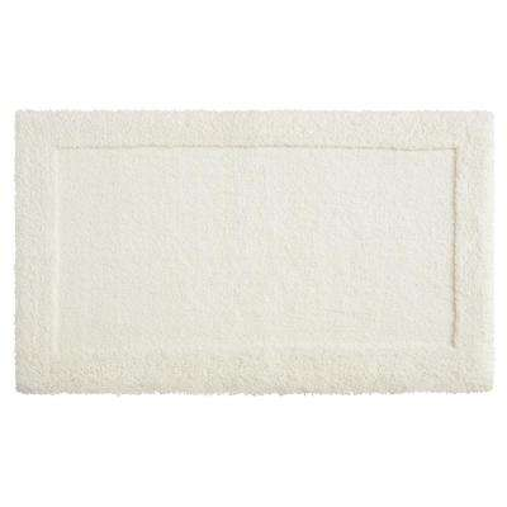 Dynasty 30 in. x 50 in. Micro Denier Polyester Bath Mat in Parchement
