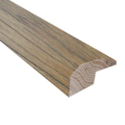 Burnished Straw / Tea 7/8 in. Thick x 2 in. Wide x 78 in. Length Hardwood Carpet Reducer/Baby T-Molding
