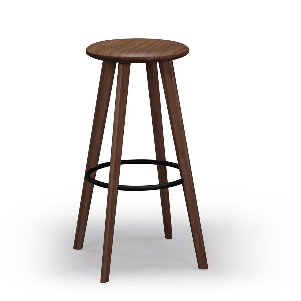 Black walnut 100 solid classic bamboo bar stool set