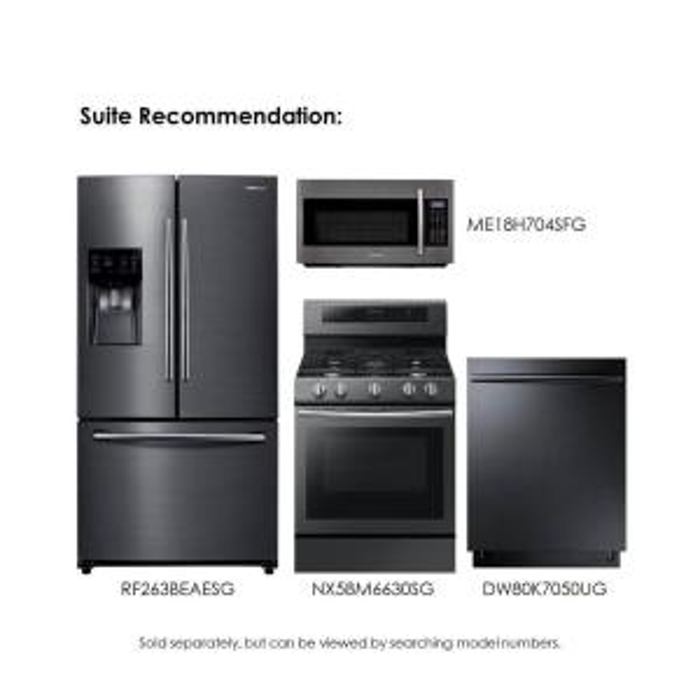Samsung 24 6 Cu Ft French Door Refrigerator In Fingerprint