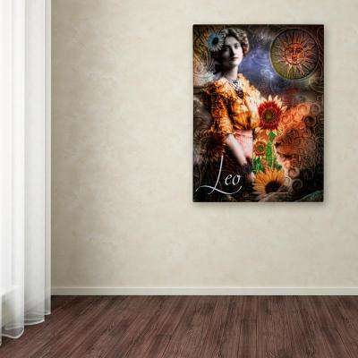 """47 in. x 35 in. """"Art Nouveau Zodiac Leo"""" by Color Bakery Printed Canvas Wall Art"""