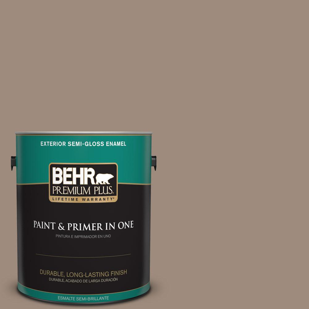 1-gal. #BXC-49 Smokey Tan Semi-Gloss Enamel Exterior Paint