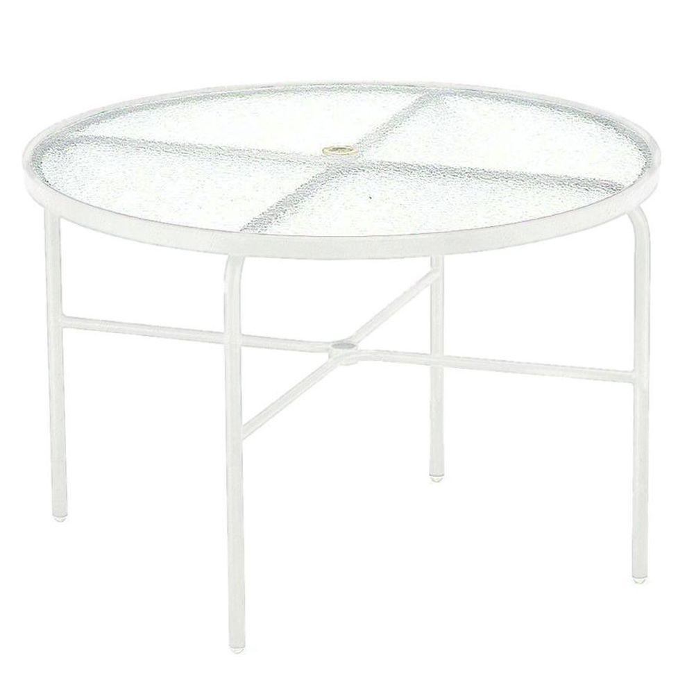 Tradewinds 42 in. White Acrylic Top Commercial Patio Dining Table