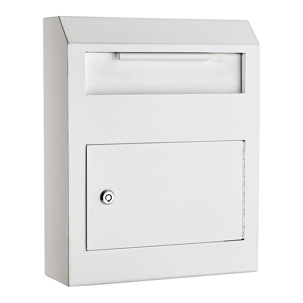 White Heavy-Duty Secured Safe Drop Box
