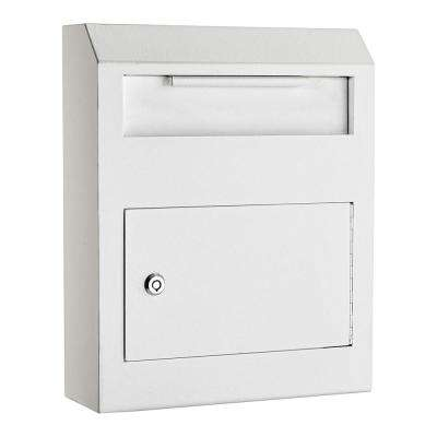 White Heavy-Duty Secured Safe Drop Box
