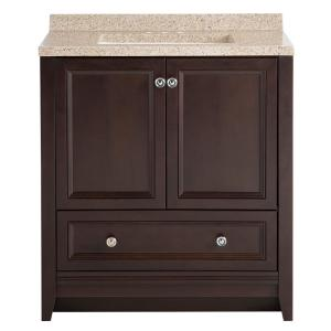 Delridge 30 In. W X 19 In. D Bath Vanity In Chocolate With Solid