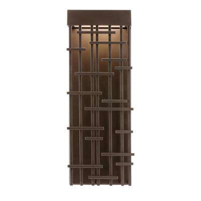 Pier 60 medium outdoor 1 light bronze outdoor wall mount sconce