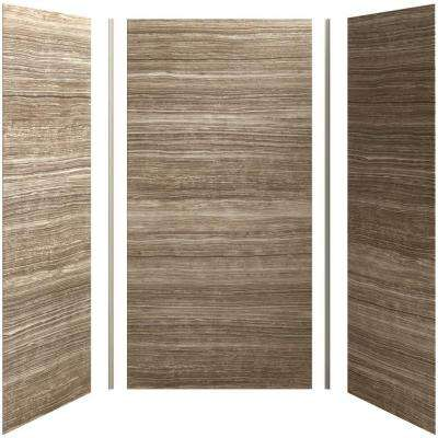 Choreograph 48in. X 36 in. x 96 in. 5-Piece Shower Wall Surround in VeinCut Sandbar for 96 in. Showers