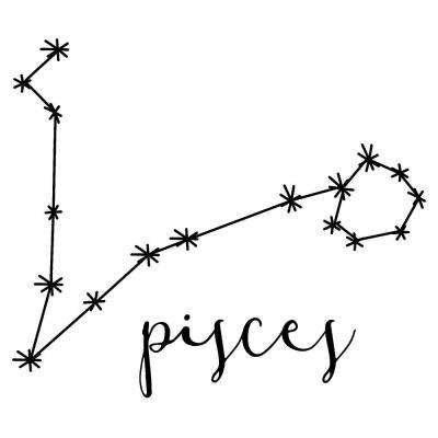 20 in. x 22 in. Black Pisces Decal Wall Art Kit