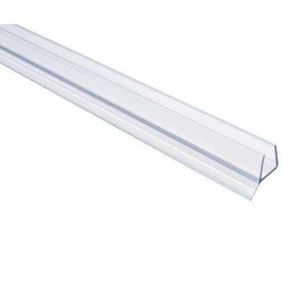 36 in. Frameless Shower Door Seal with Wipe for 3/8 in. Glass in Clear