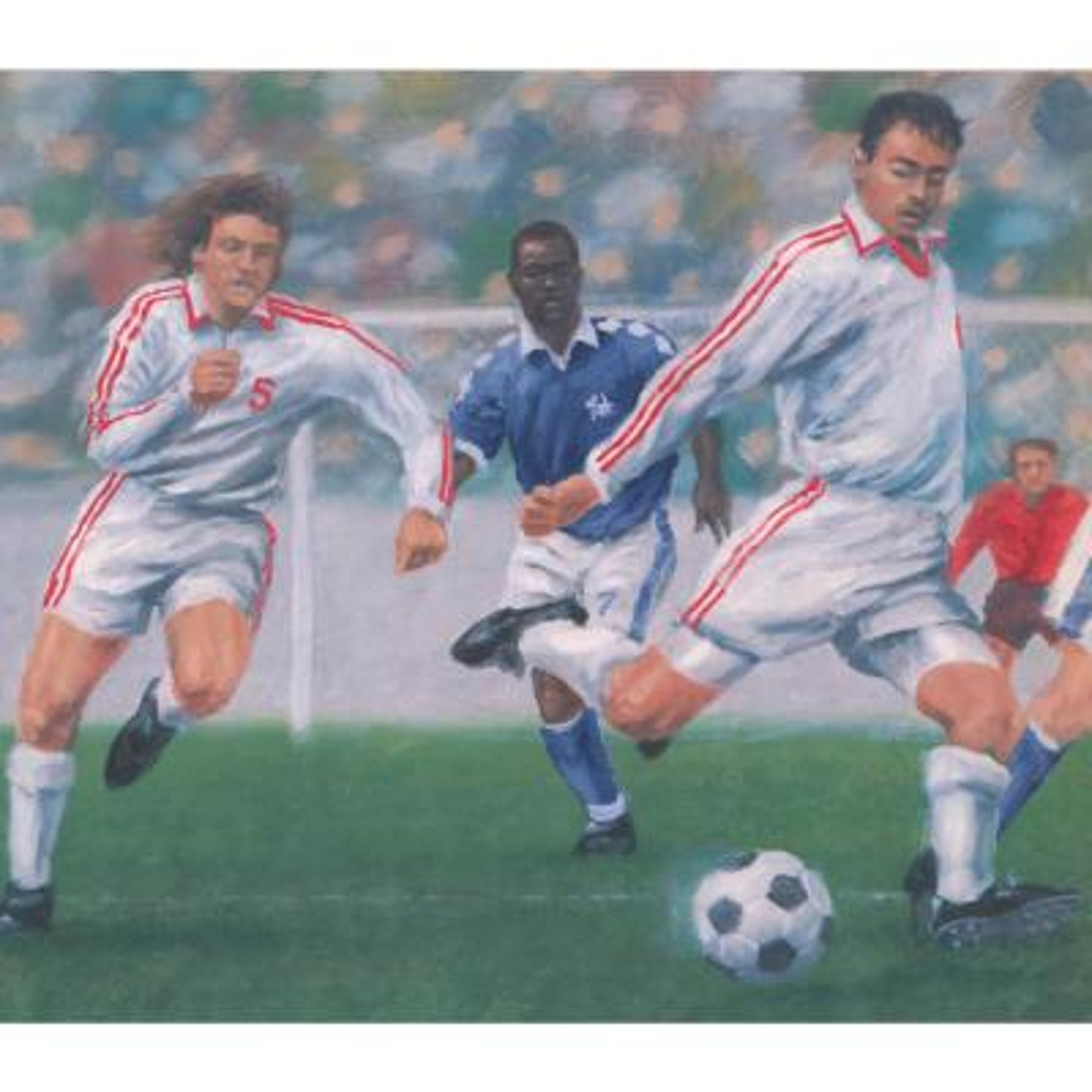 York Wallcoverings Vintage Soccer Football Game Sports Prepasted Wallpaper Border Ir2742b The Home Depot