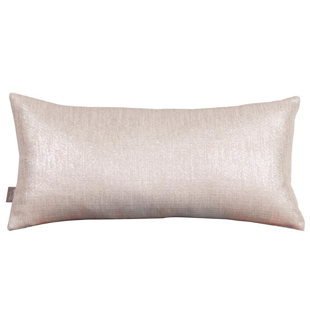 Glam Beige Sand Kidney Decorative Pillow