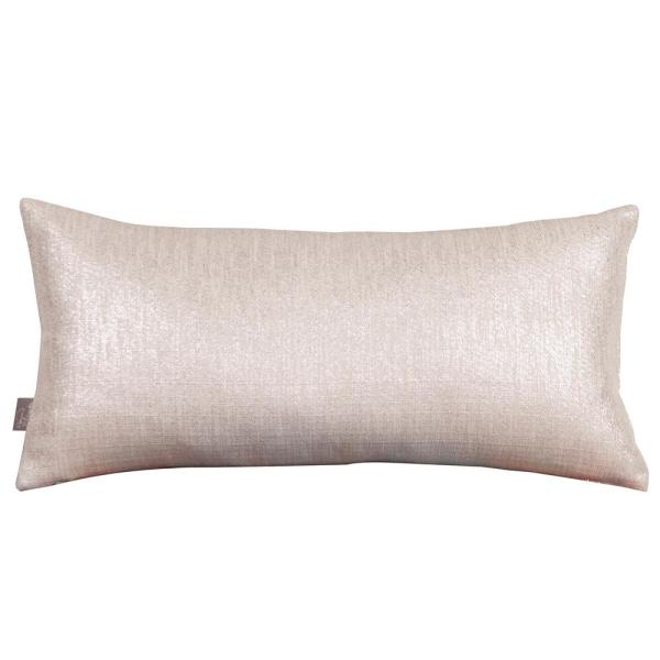 Glam Beige Sand Solid Polyester 5 in. x 22 in. Throw Pillow