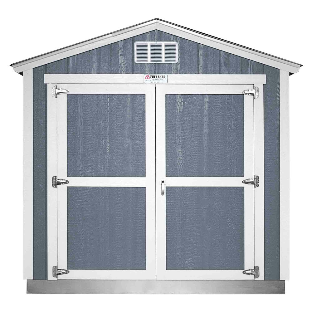 Tuff Shed Installed The Tahoe Series Tall Ranch 8 ft. x 12 ft. x 8 ft. 6 in. Painted Wood Storage Building Shed, Blues -  Tahoe 8x12 E