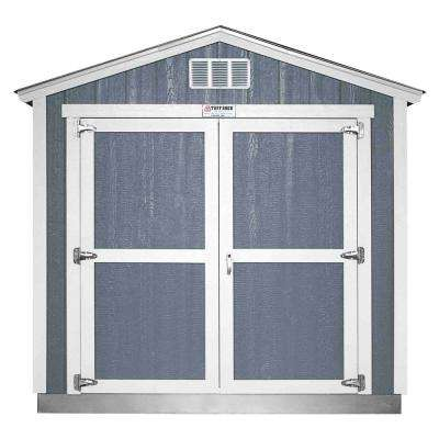 Installed Tahoe 8 ft. x 12 ft. x 8 ft. 6 in. Painted Wood Storage Building Shed with Shingles and Endwall Double Door