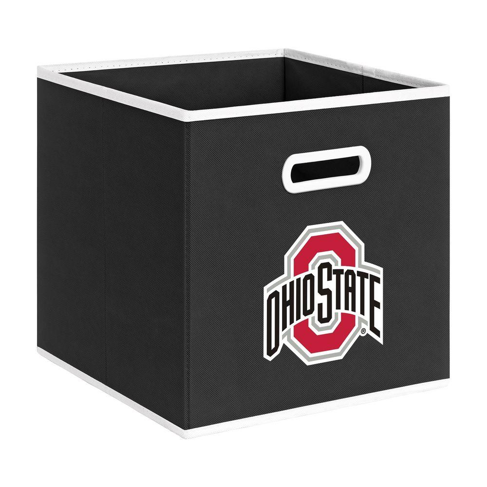 null College STOREITS Ohio State University 10-1/2 in. W x 10-1/2 in. H x 11 in. D Black Fabric Storage Bin