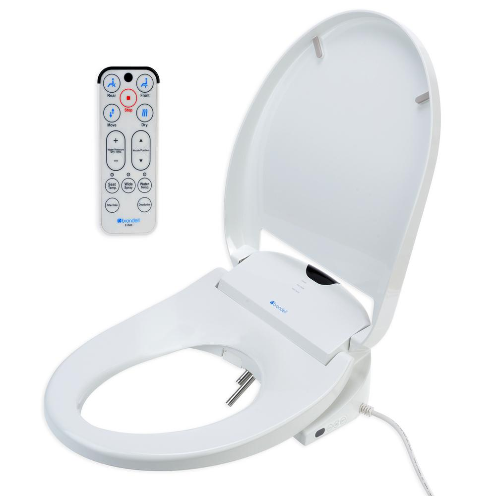 Fantastic Brondell Swash 1000 Electric Bidet Seat For Round Toilet In White Creativecarmelina Interior Chair Design Creativecarmelinacom