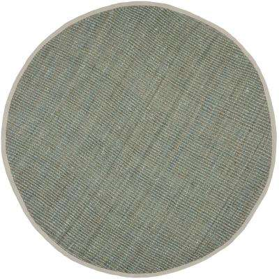 Natural Fiber Gray 4 Ft X Round Area Rug
