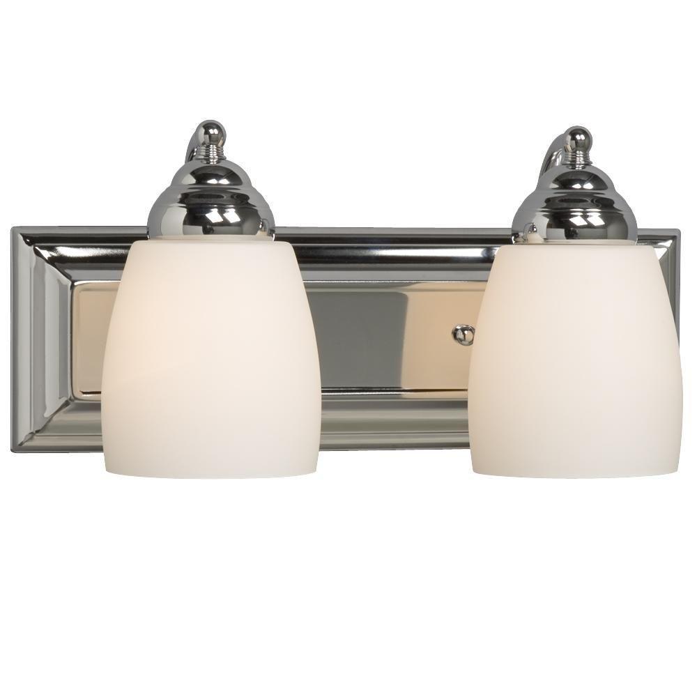 Negron 2-Light Polished Chrome Incandescent Bath Vanity Light