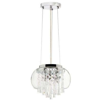 Catherine 3 Light Halogen Polished Chrome Chandelier with Clear Crystal Shades