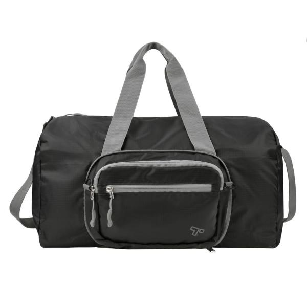 Travelon 2-in-1 Black Packable Convertible Crossbody Duffel 43443-500