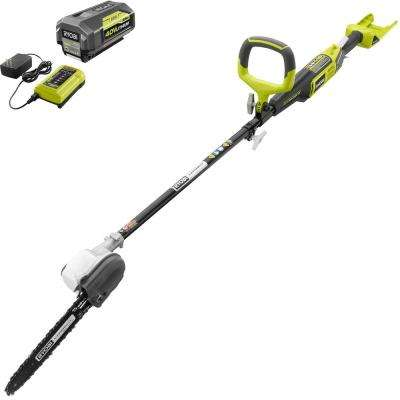 10 in. 40-Volt Lithium-Ion Cordless Pole Saw - 2.6 Ah Battery and Charger Included
