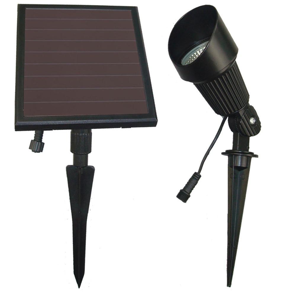 Solar Ed Black Outdoor Spotlight