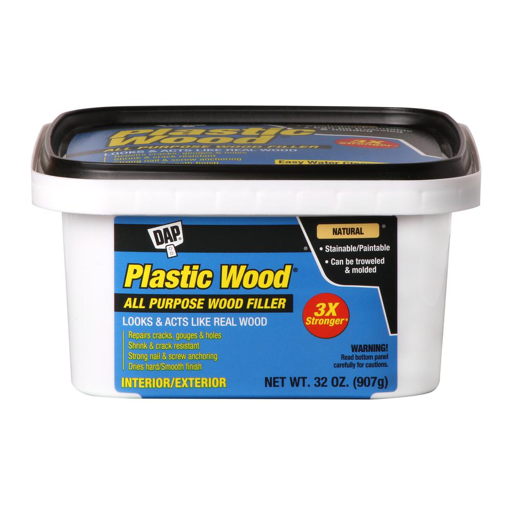 Plastic Wood 32 oz. Natural Latex Carpenter's Woodfiller (4-Pack)