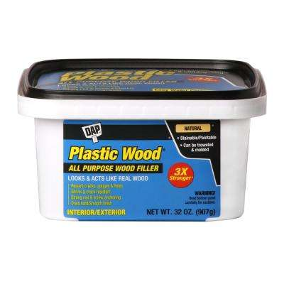 Plastic Wood 32 oz. Natural Latex Carpenter's Wood Filler (4-Pack)