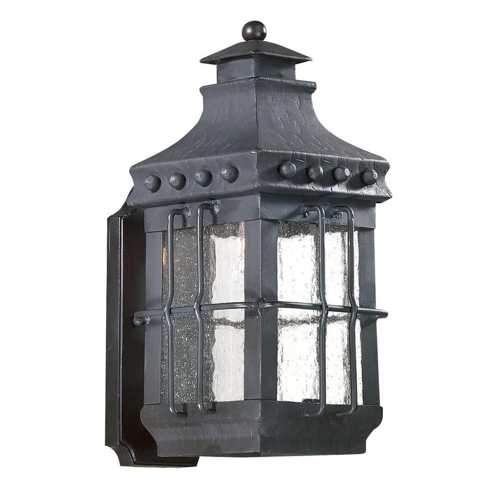 Troy Lighting Dover 1 Light Natural Bronze Outdoor Wall Mount Lantern