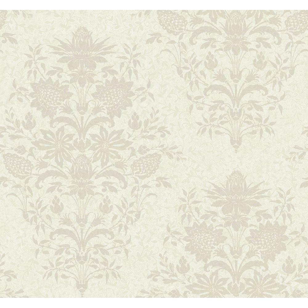 Damask Small Scrolling Vine Wallpaper