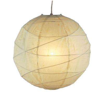Orb 1-Light White Hanging Pendant
