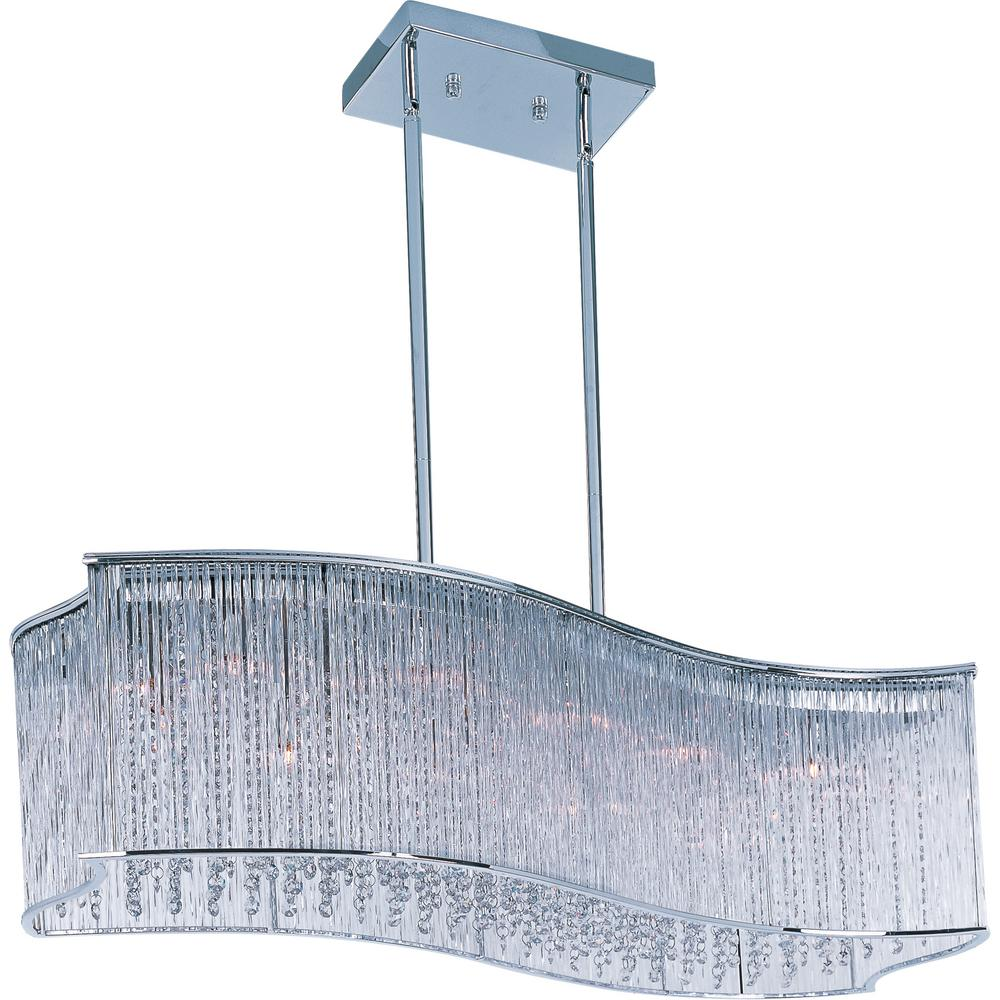 Maxim Lighting Swizzle 16-Light Polished Chrome Pendant Maxim Lighting's commitment to both the residential lighting and the home building industries will assure you a product line focused on your lighting needs. With Maxim Lighting accessories you will find quality product that is well designed, well priced and readily available. Maxim has fixtures in a variety of styles, and a strong presence in the energy-efficient lighting industry, Maxim Lighting is the clear choice for quality lighting.