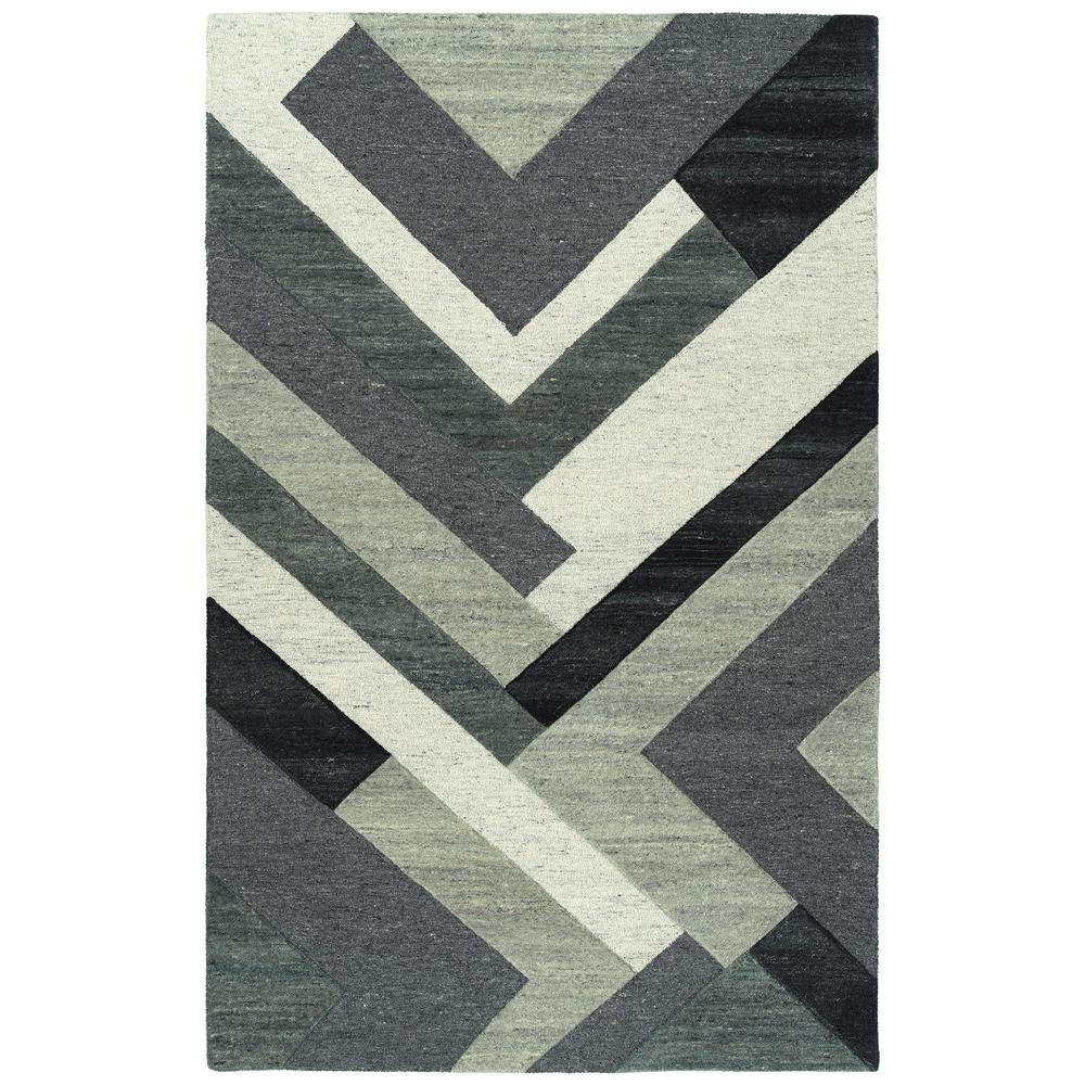 2a6548d51958b Kaleen Alzada Charcoal 2 ft. x 3 ft. Area Rug-ALZ03-38-23 - The Home ...