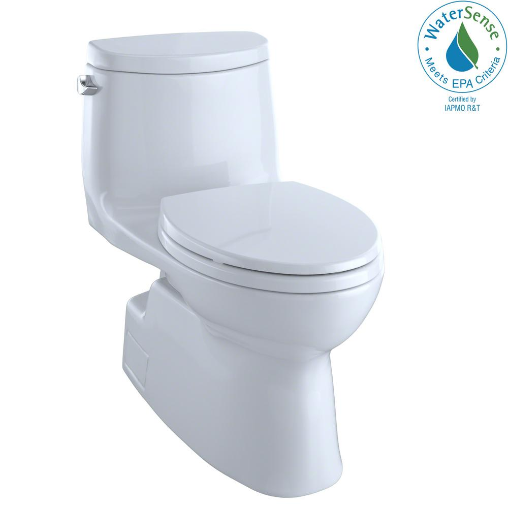 TOTO Carlyle II 1-Piece 1.28 GPF Single Flush Elongated Skirted ...