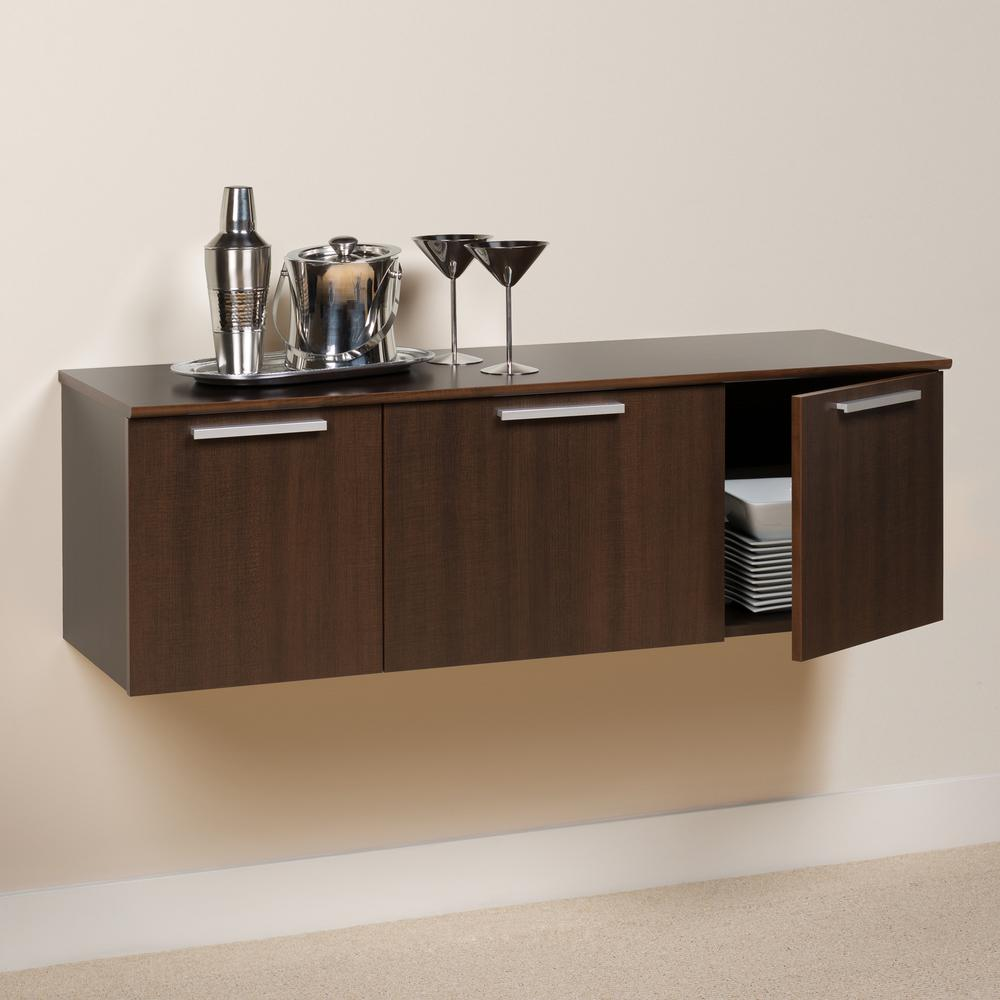 Prepac Coal Harbor Espresso Buffet with Storage