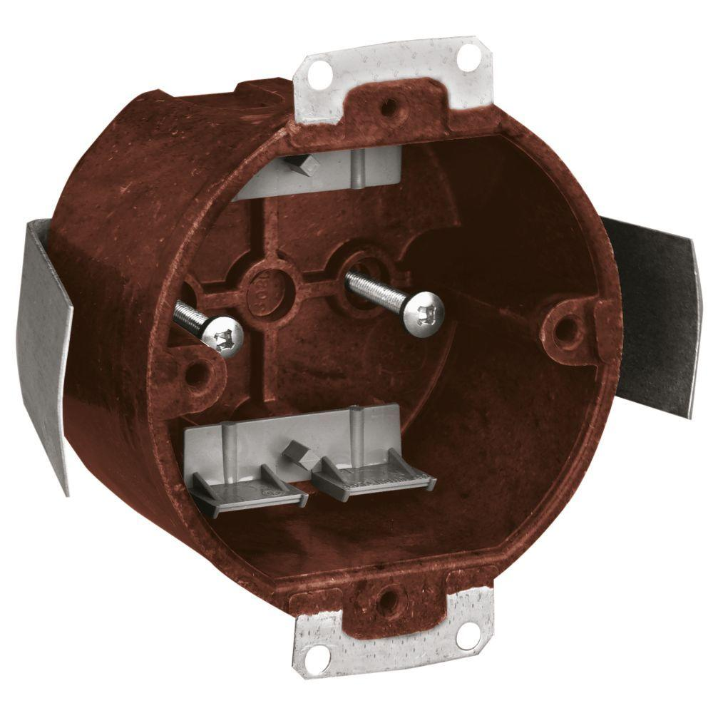 Carlon 1 Gang 18 Cu In Round Old Work Ceiling Box Case Of 75 Wiring A Fan Junction Fixture Outlet