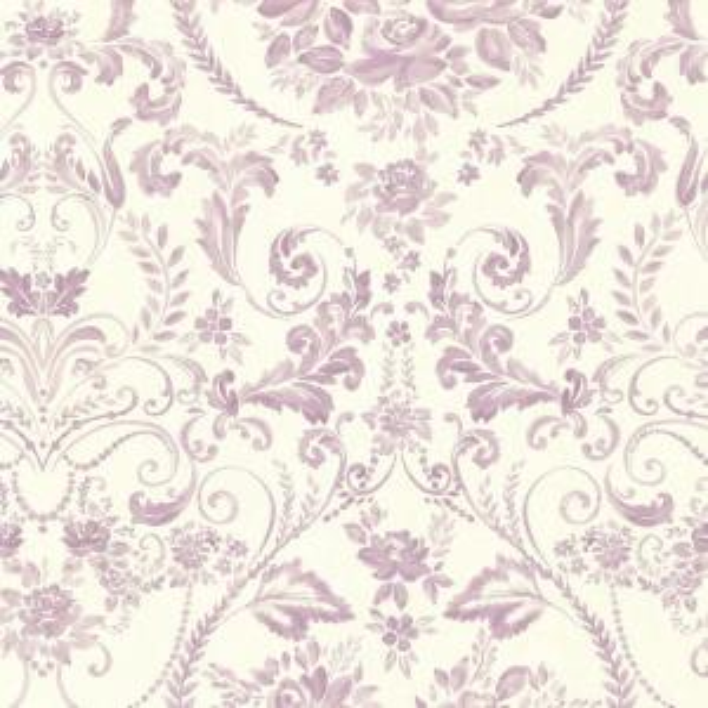 Bella Purple Damask Wallpaper