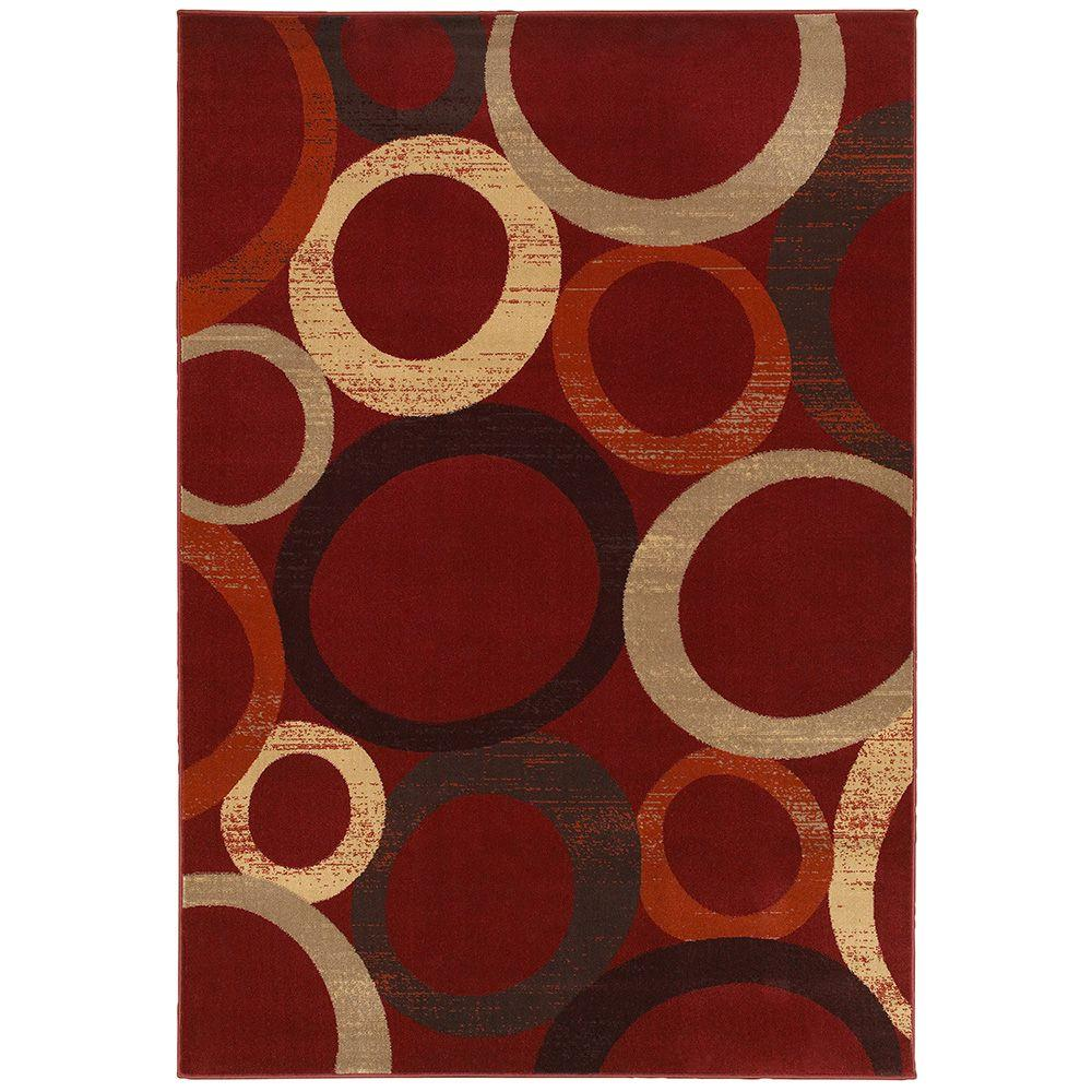LR Resources Adana Red 1 ft. 10 in. x 3 ft. 1 in. Plush Indoor Accent Rug